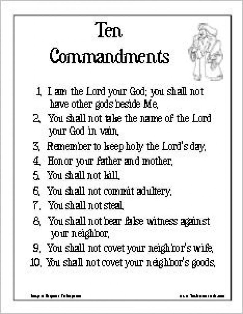 28+ Collection Of Ten Commandments Coloring Pages Catholic ...