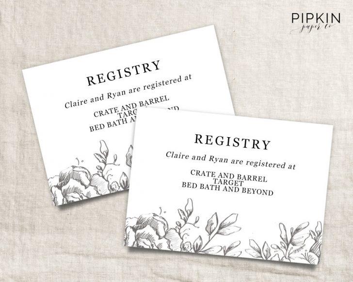 Free Printable Registry Cards