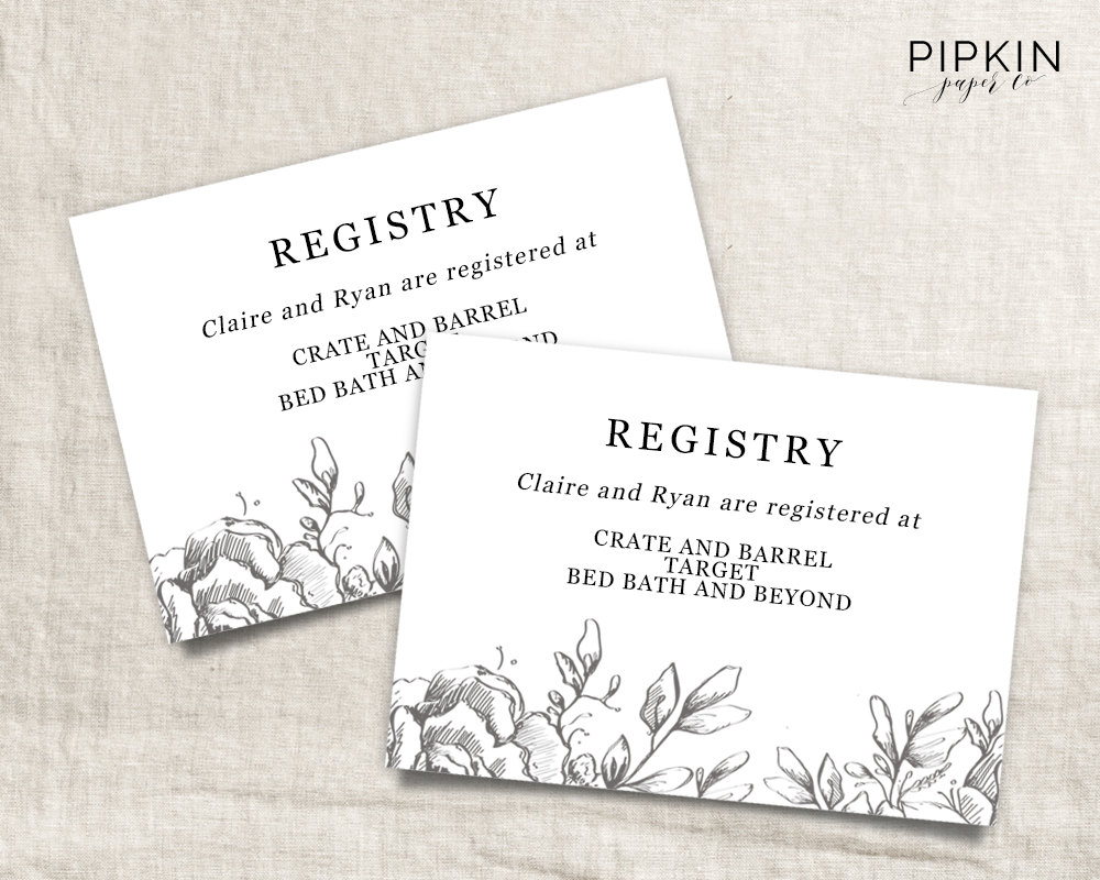 28 Images Of Template For Wedding Registry | Helmettown - Free Printable Registry Cards