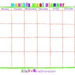 28 Useful Printable Monthly Meal Planners | Kittybabylove   Free Printable Monthly Meal Planner
