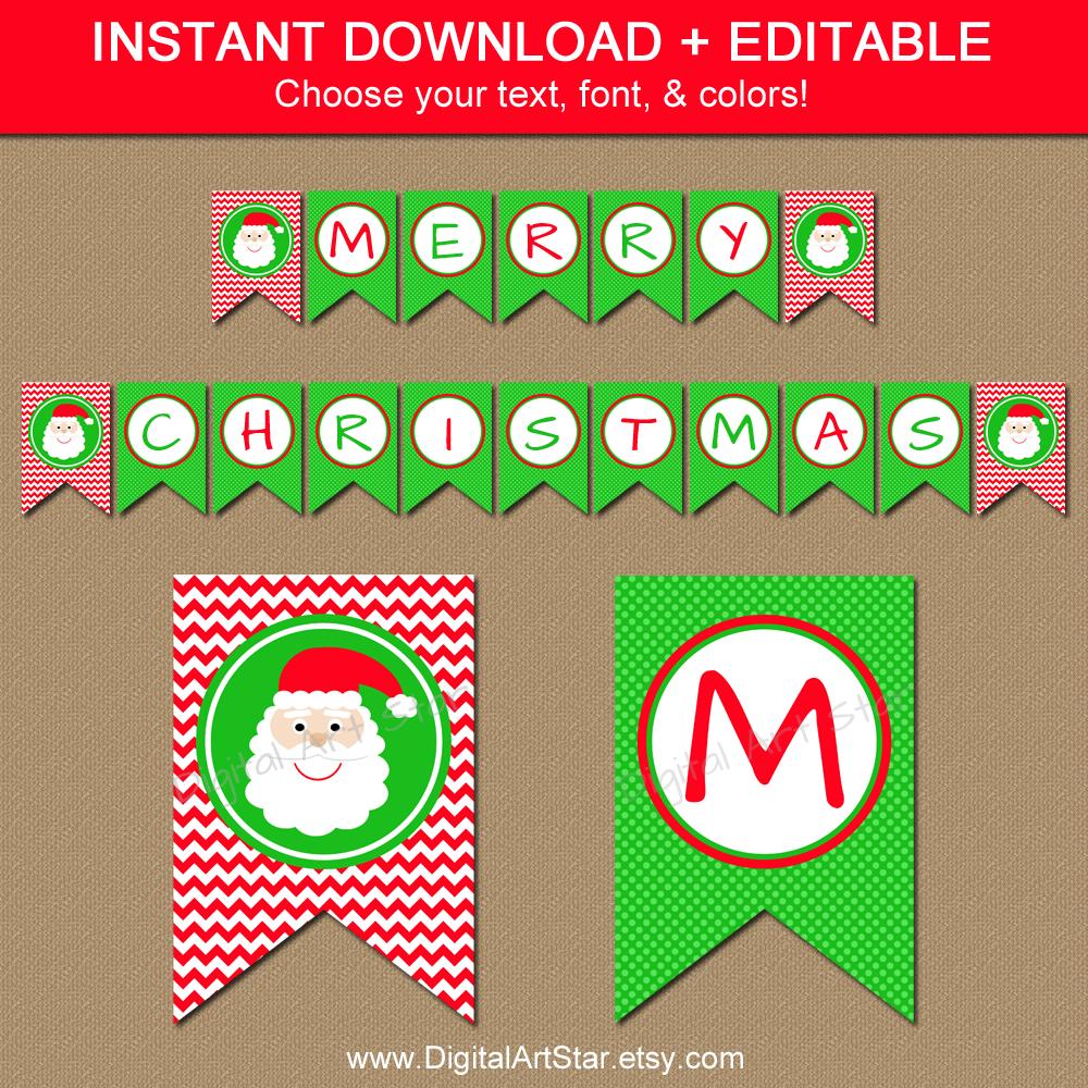 29 Images Of Christmas Free Printable Banners Template   Helmettown - Free Printable Christmas Banner