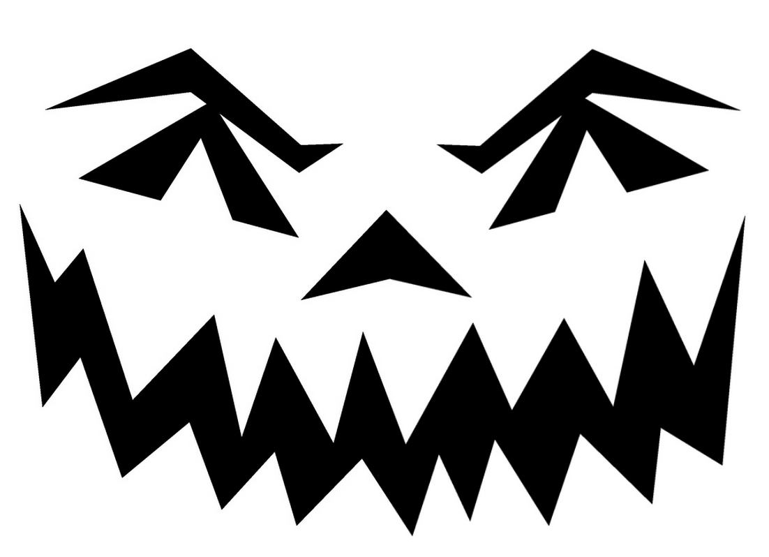 29 Images Of Scary Halloween Template To Printable   Bfegy - Free Printable Scary Pumpkin Patterns