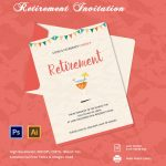 29+ Retirement Invitation Templates   Psd, Ai, Word | Free & Premium   Free Printable Retirement Party Invitations