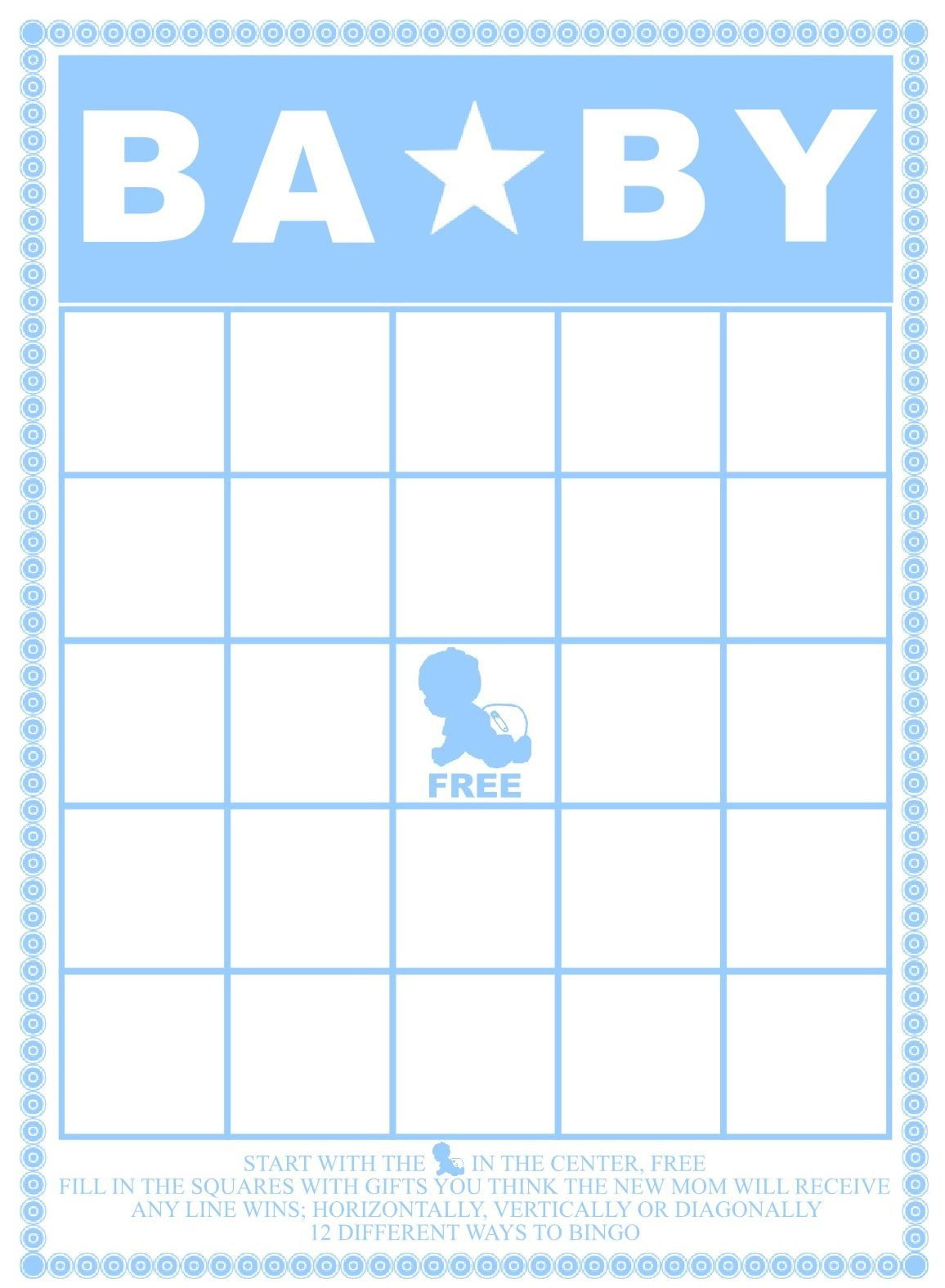 29 Sets Of Free Baby Shower Bingo Cards Pertaining To Baby Bingo - Free Printable Baby Shower Bingo Cards