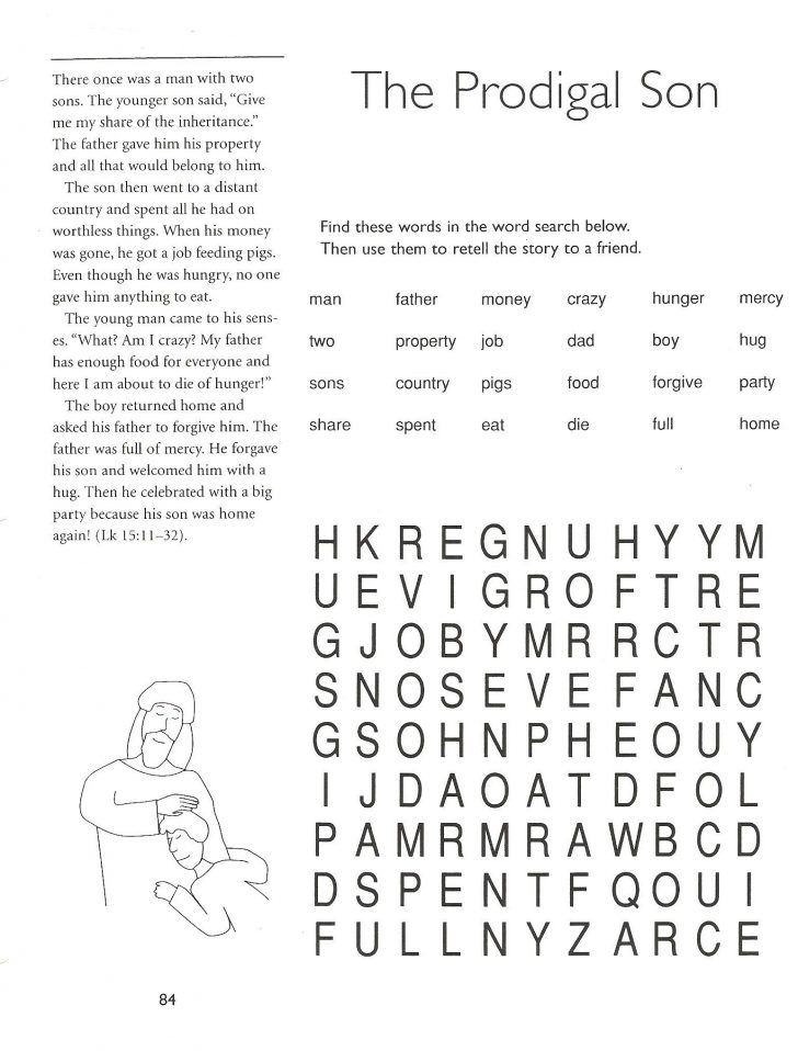 Free Printable Catholic Word Search