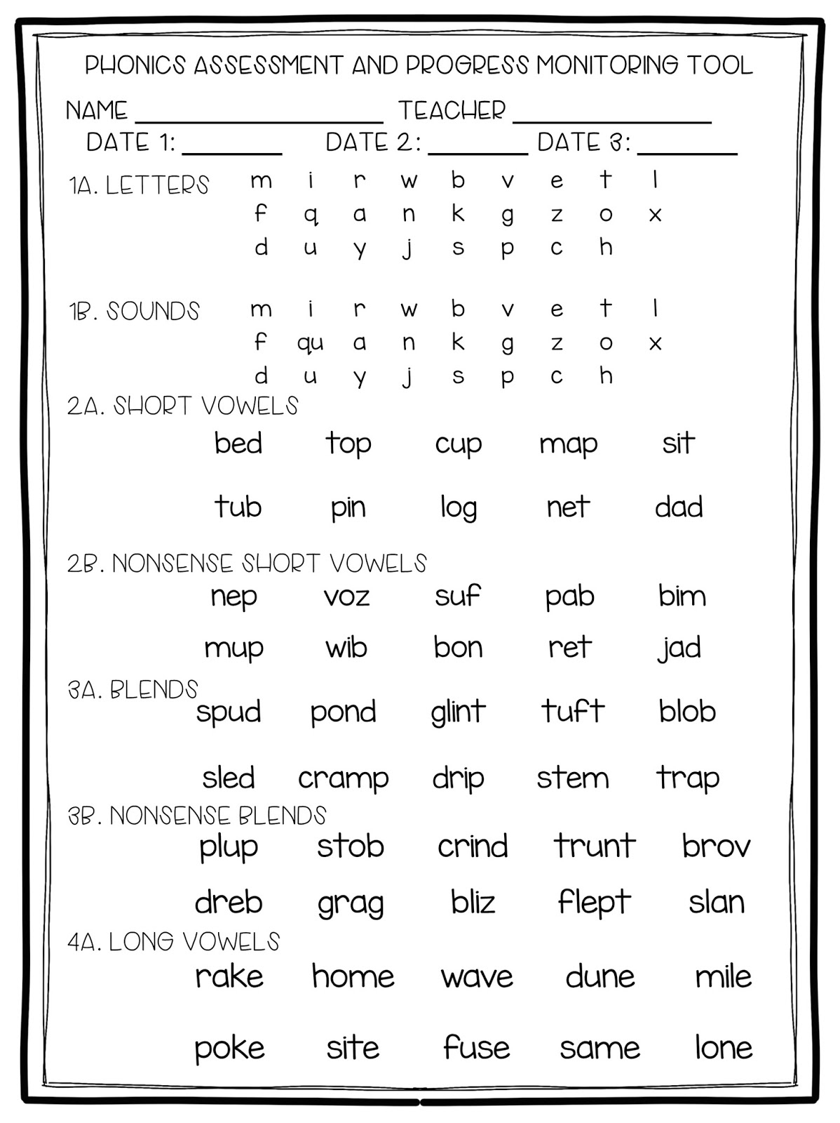 2Nd Grade Snickerdoodles - Free Printable Phonics Assessments