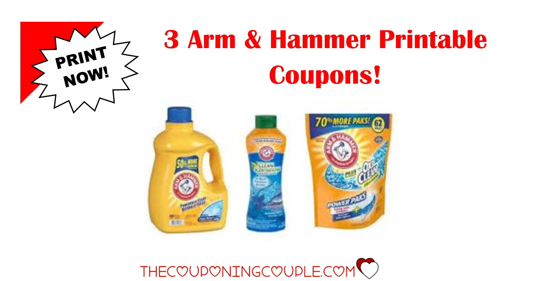 3 Arm & Hammer Printable Coupons ~ Print Now!! Don't Miss Out! - Free Detergent Coupons Printable