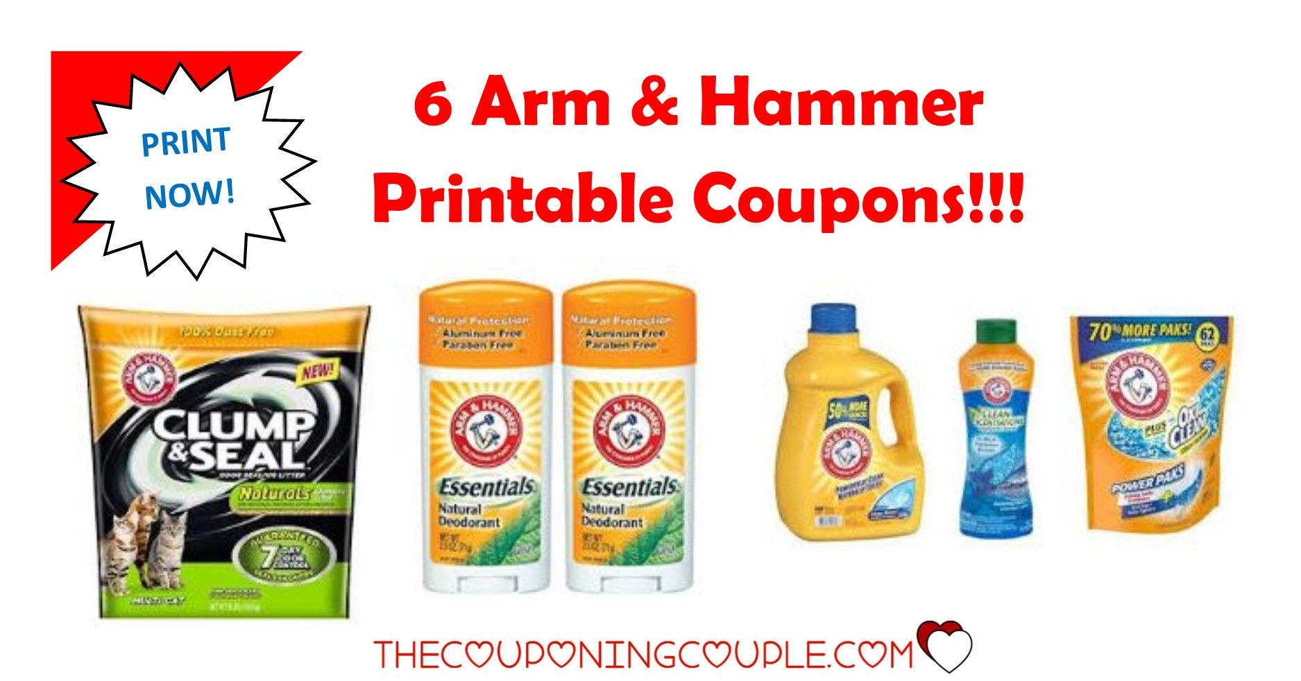 3 Arm & Hammer Printable Coupons ~ Print Now!! Don't Miss Out - Free Printable Arm And Hammer Coupons