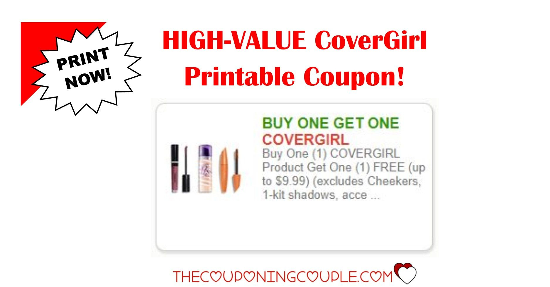 3 Covergirl Printable Coupon ~ Awesome Savings! Print Now! | Store - Free High Value Printable Coupons
