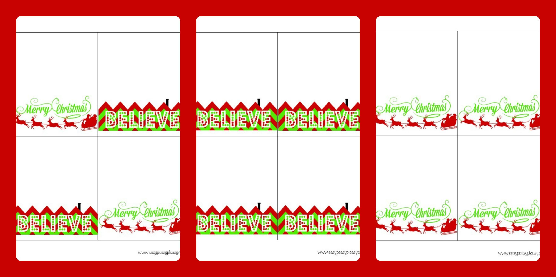 3 Free Printable Christmas Treat Bag Toppers - Easy Peasy Pleasy - Free Printable Christmas Bag Toppers