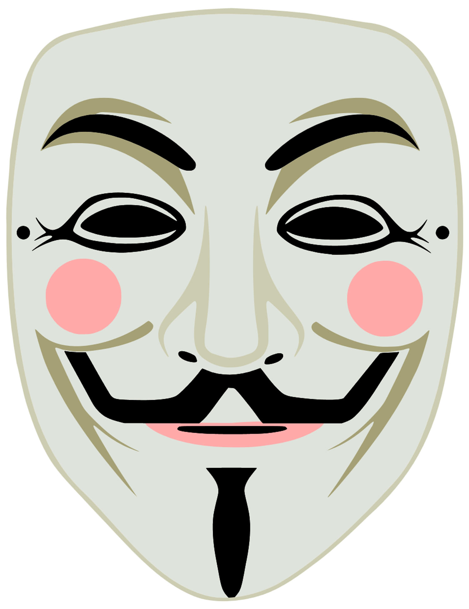 3 High Quality Printable Vendetta Guy Fawkes Mask Cut Out - Free Printable Face Masks