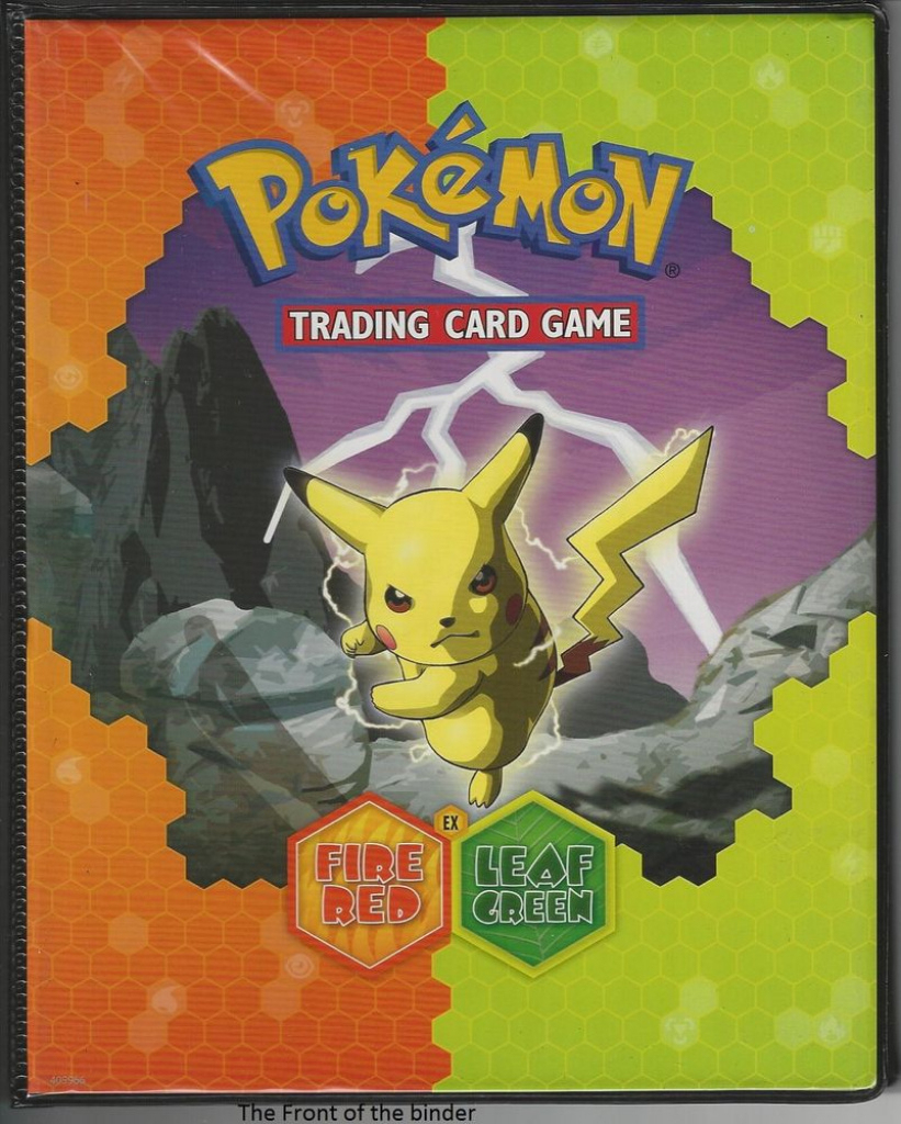 photograph regarding Pokemon Binder Cover Printable known as 3 Pokemon Leafgreen Firered Card Holder Binder Charizard