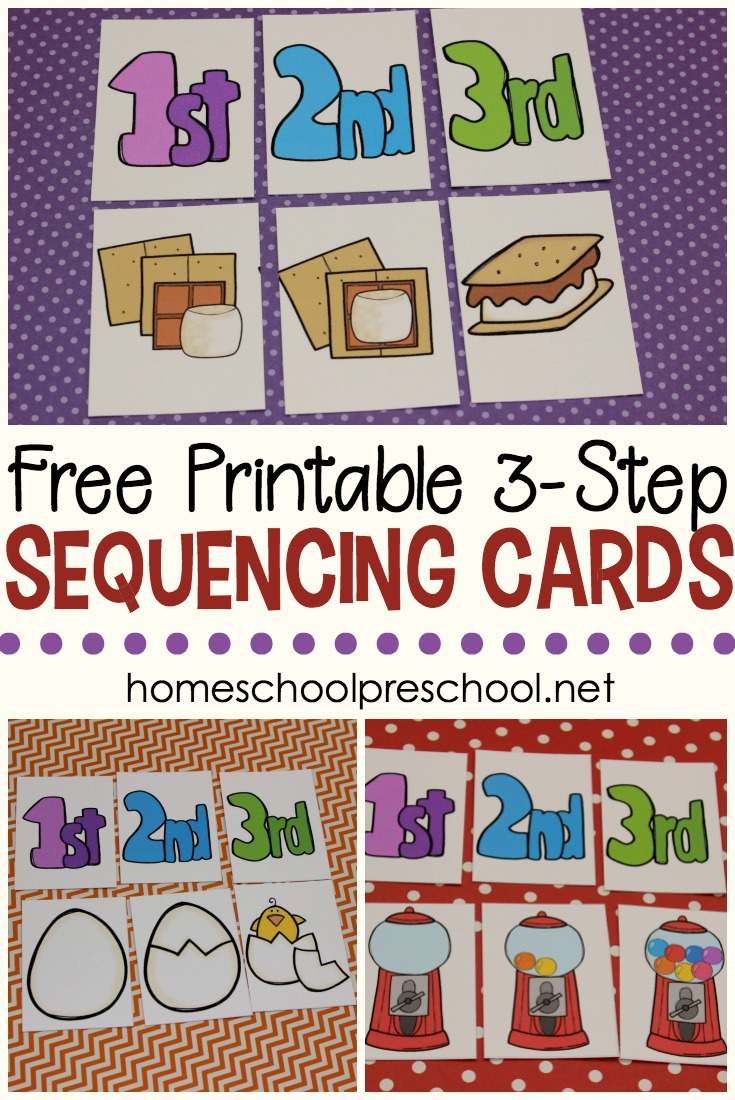3 Step Sequencing Cards Free Printables For Preschoolers - Free Printable Sequencing Worksheets For Kindergarten