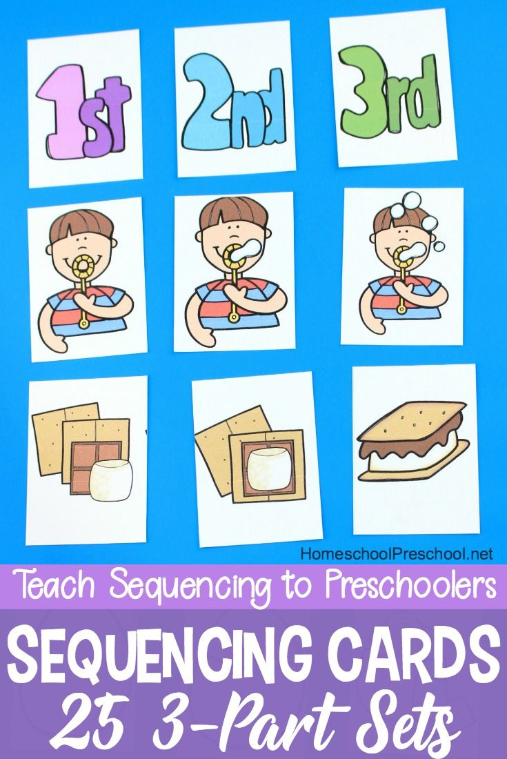 3 Step Sequencing Cards Free Printables For Preschoolers   Speech - Free Printable Sequencing Cards For Preschool