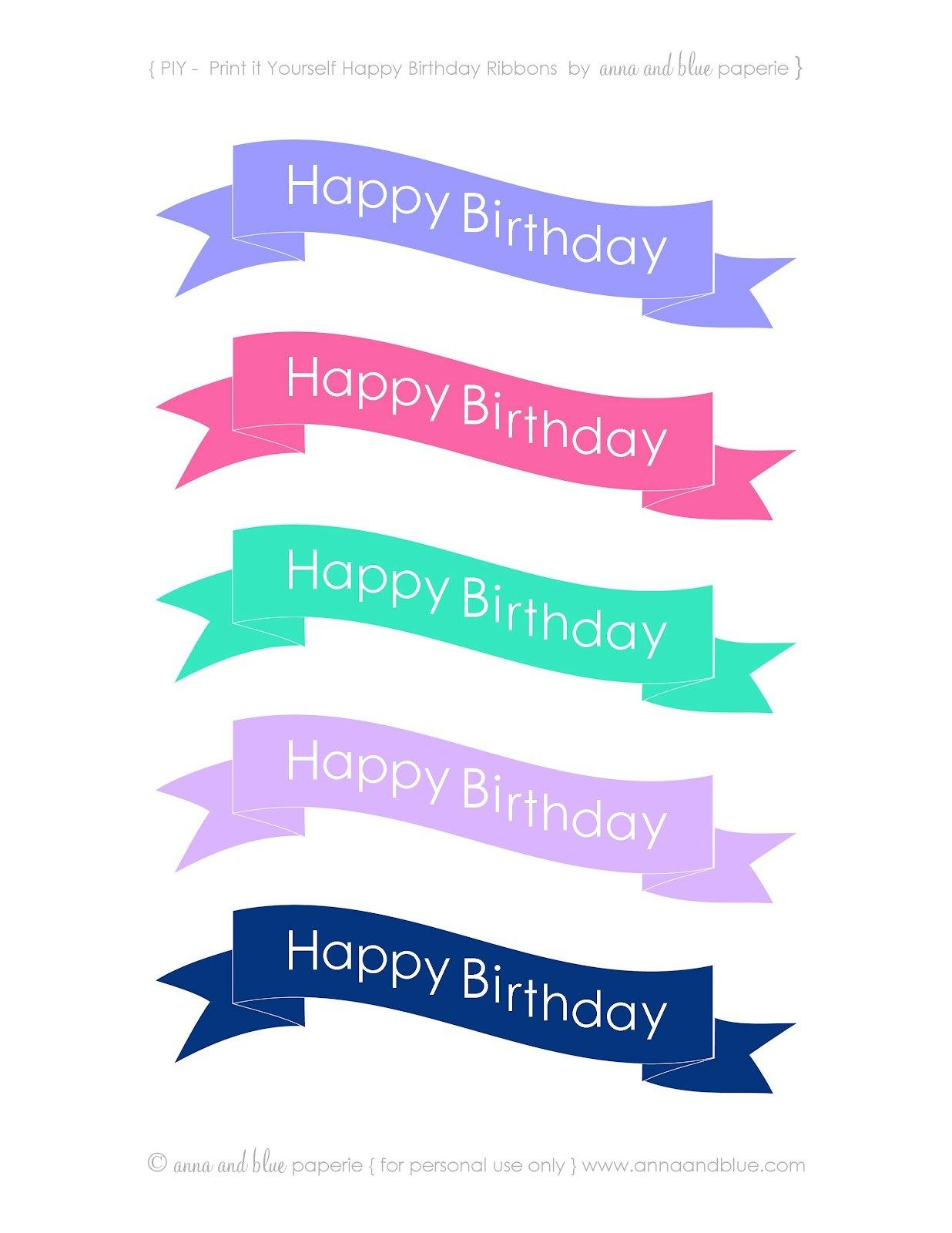 30+ Elegant Picture Of Happy Birthday Cake Banner   Designs - Free Printable Happy Birthday Cake Topper