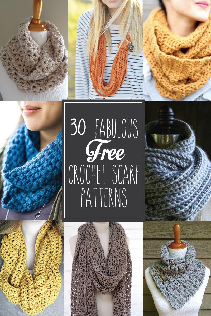 30+ Fabulous And Free Crochet Scarf Patterns - - Free Printable Crochet Scarf Patterns
