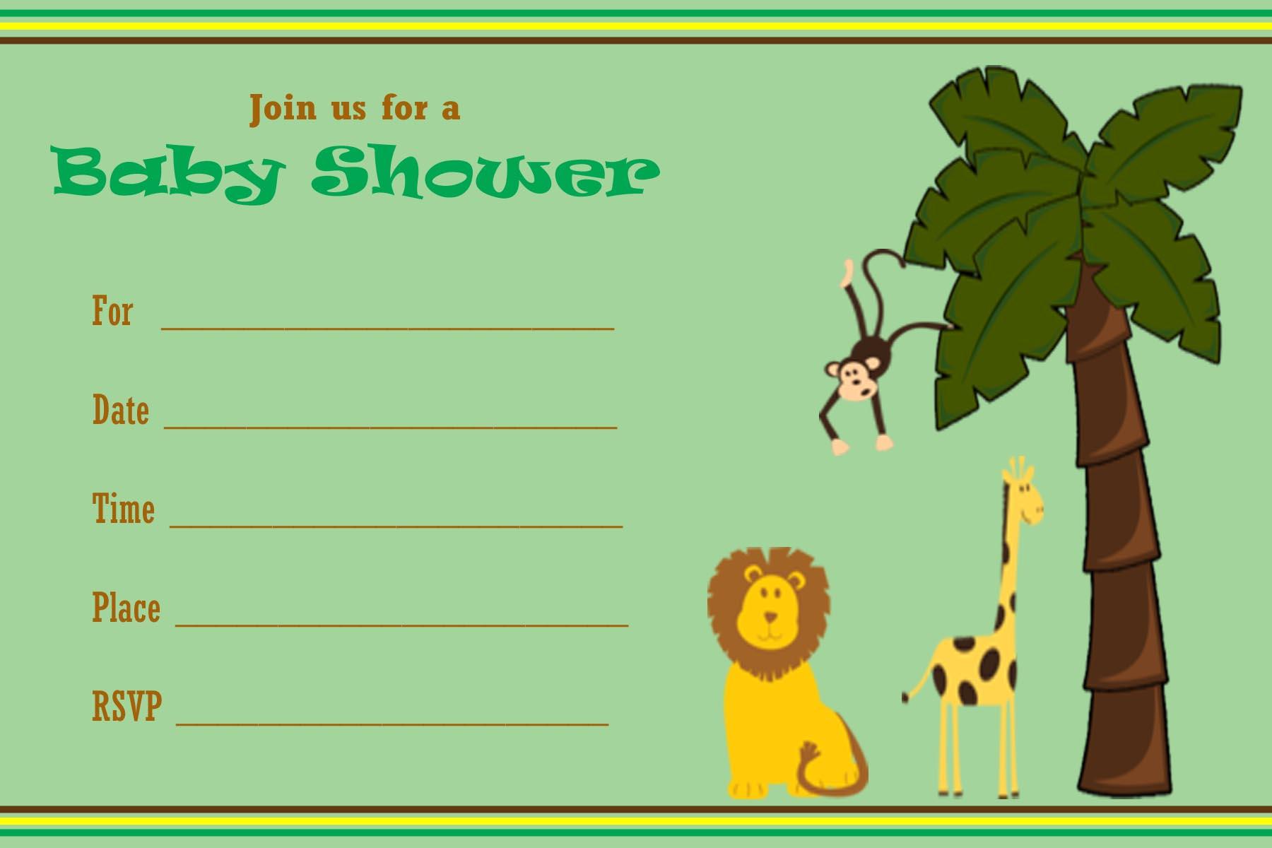 30 New Pics Jungle Baby Shower Invitations - Baby Shower Ideas - Free Printable Jungle Safari Baby Shower Invitations