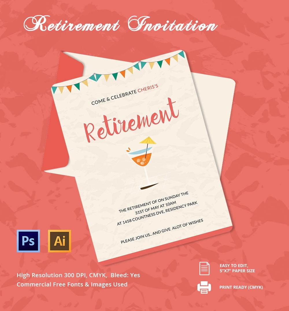 30+ Retirement Invitation Templates - Psd, Ai, Word   Free & Premium - Free Printable Retirement Party Flyers
