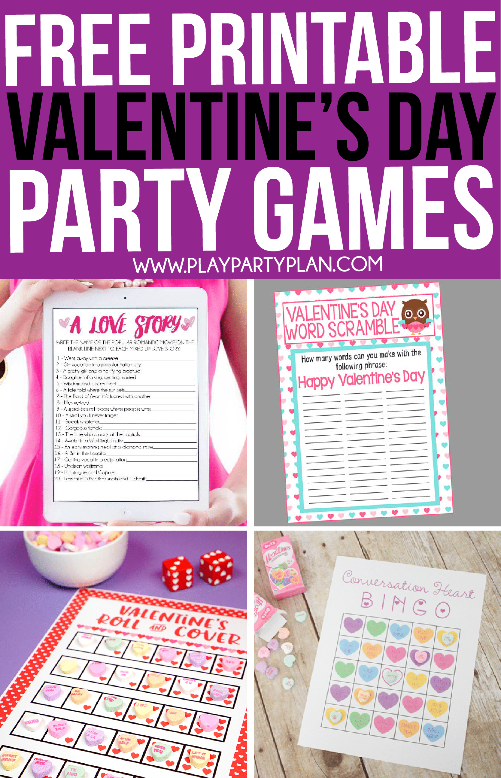 30 Valentine's Day Games Everyone Will Absolutely Love - Play Party Plan - Free Printable Valentine Games For Adults