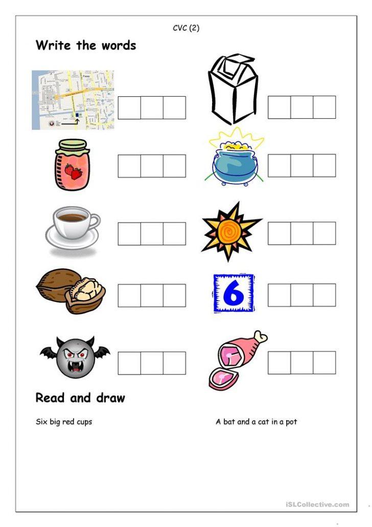 Cvc Words Worksheets Free Printable