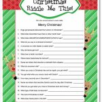 33 Best Christmas Riddles For Kids   Humoropedia Within Free   Free Printable Christmas Riddle Games