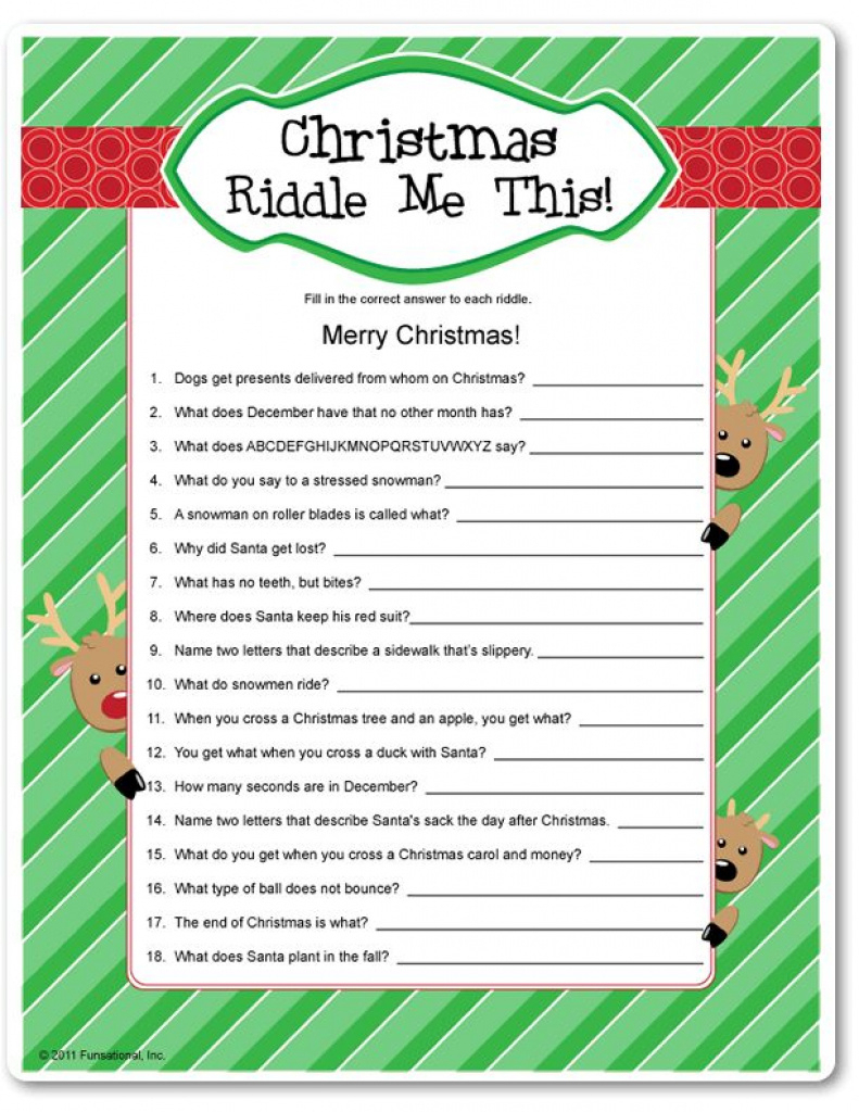 33 Best Christmas Riddles For Kids - Humoropedia Within Free - Free Printable Christmas Riddle Games