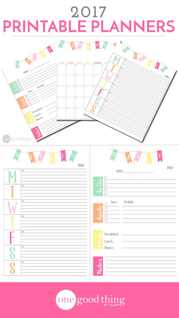 Free Printable Daily Planner 2017