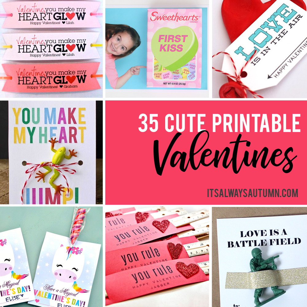35 Adorable Diy Valentine's Cards To Print At Home For Your Kids - Free Printable Valentine Cards For Preschoolers