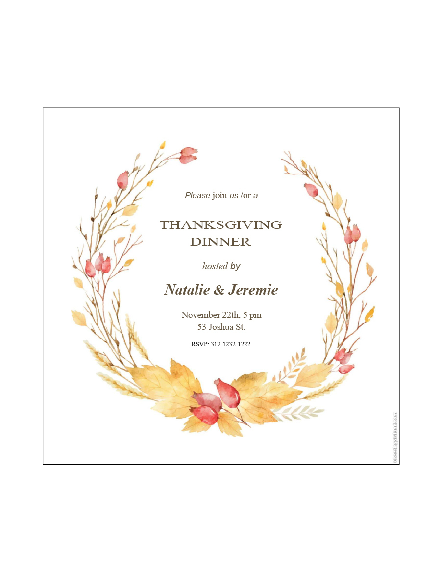 35 Awesome Thanksgiving Menu Templates - Template Lab - Free Printable Thanksgiving Menu Template