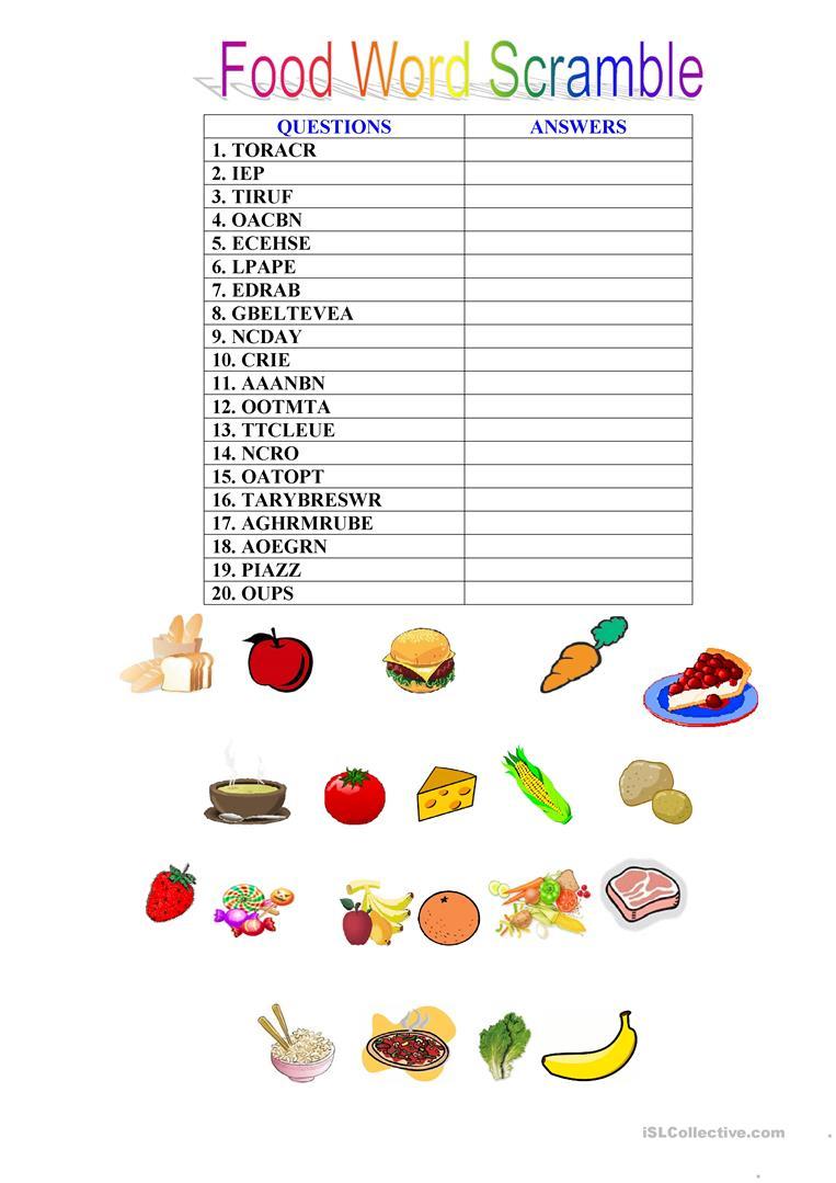 35 Free Esl Word Scramble Worksheets - Free Printable Word Scramble Worksheets
