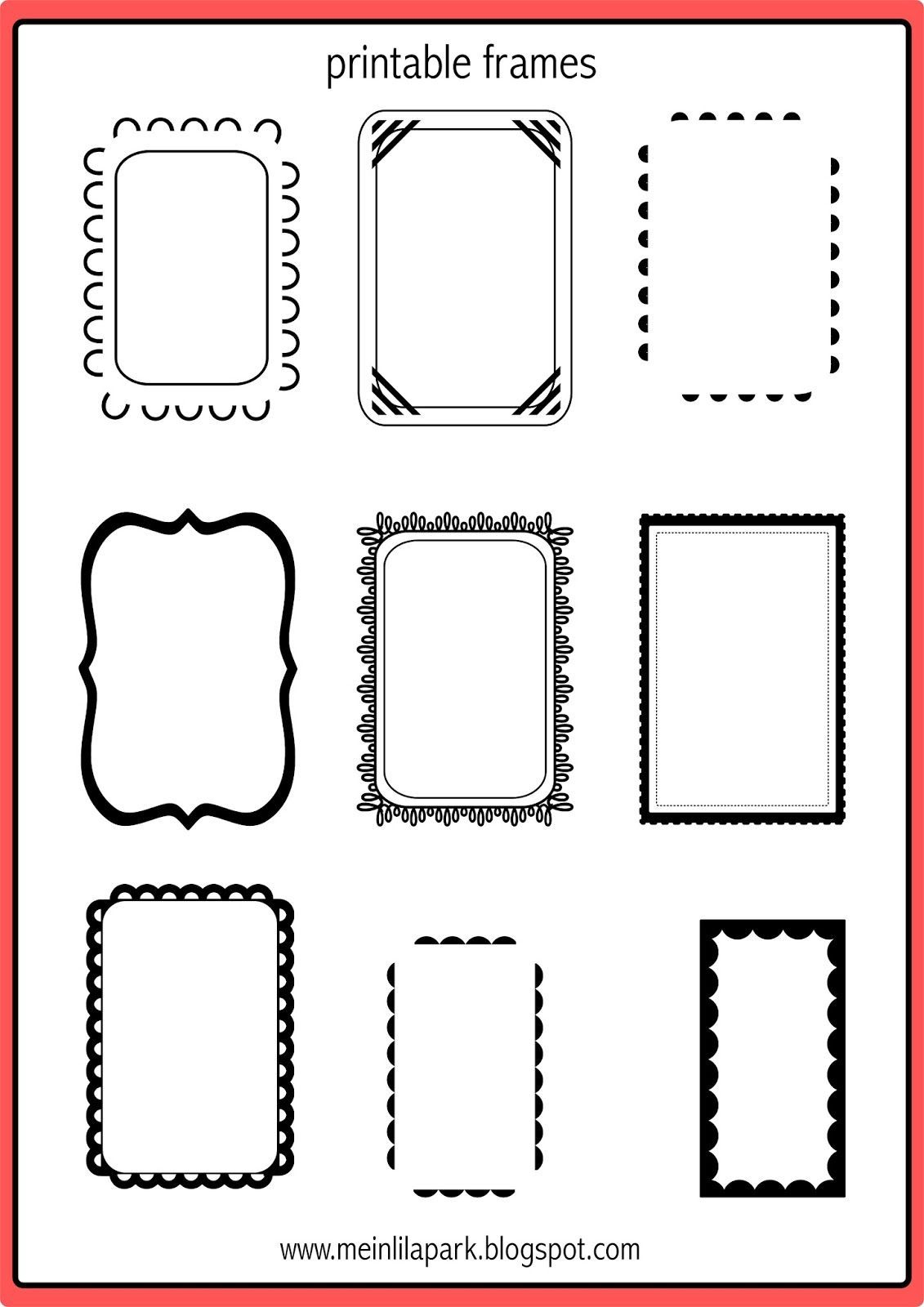 35+ Inspiration Picture Of Scrapbooking Frames Printable | Scrapbook - Free Printable Frames For Scrapbooking
