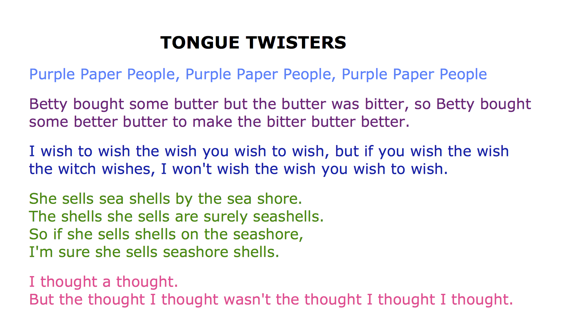 37 Funny Tongue Twisters Guaranteed To Twist Your Tongue Into - Free Printable Tongue Twisters