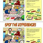39 Free Esl Spot The Difference Worksheets   Free Printable Spot The Difference Worksheets