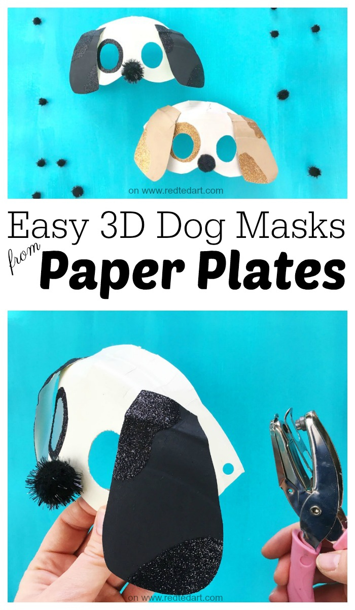 3D Dog Mask Diy - Red Ted Art's Blog - Free Printable Pokemon Masks
