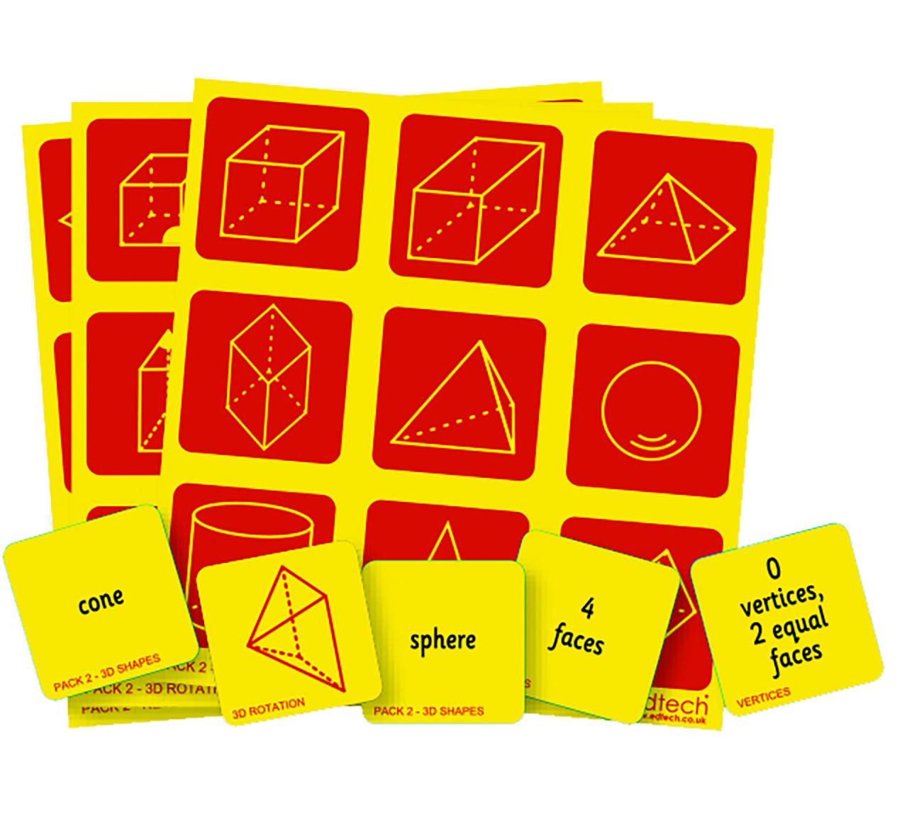 3D Shape Bingo - 3D Shape Bingo Free Printable