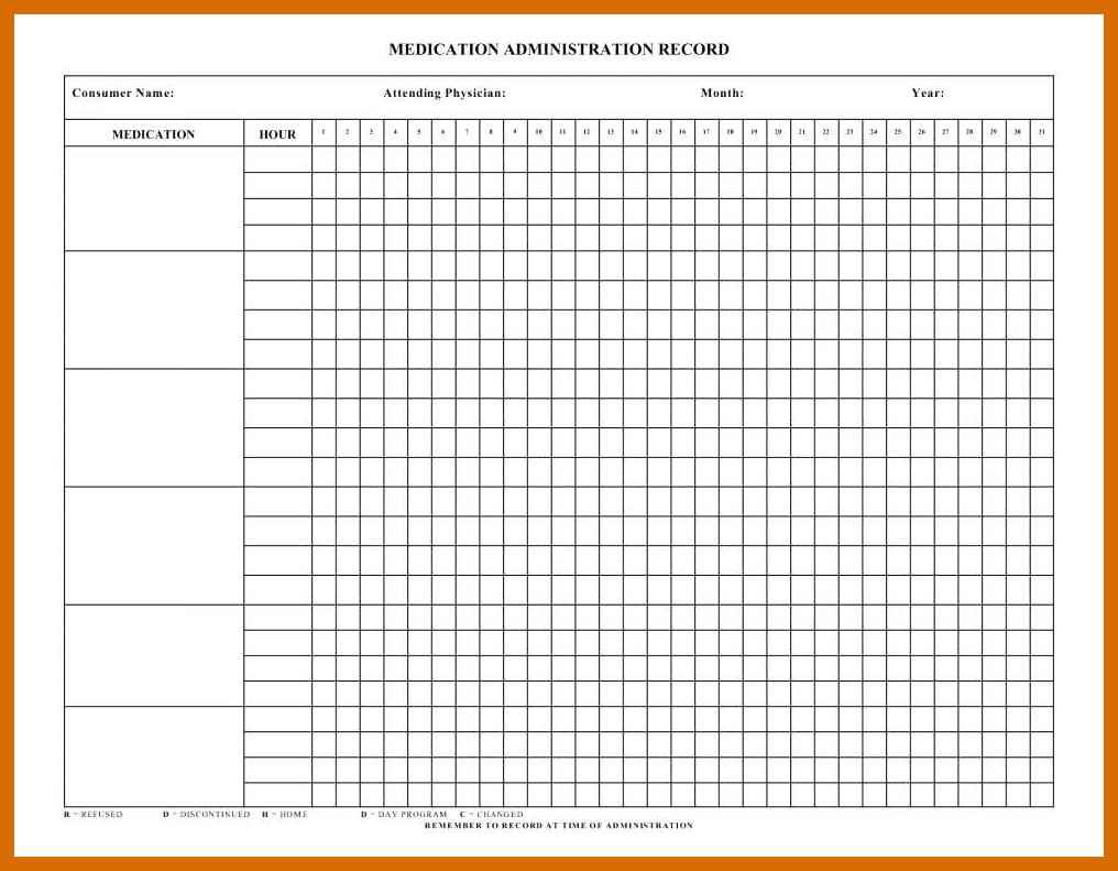 4-5 Free Printable Medication Chart | Salescv - Medication Chart Printable Free