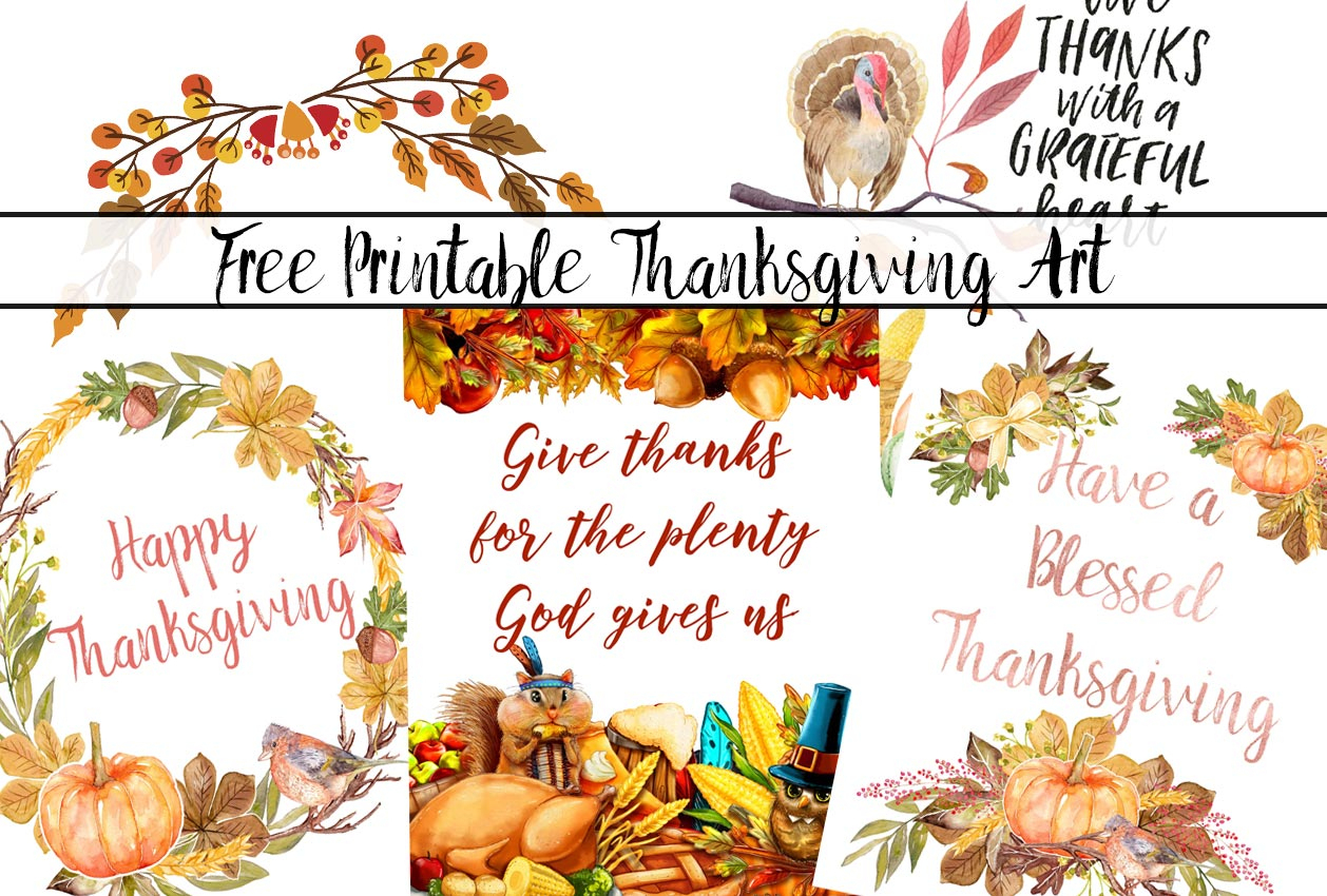 4 Gorgeous Free Printable Thanksgiving Wall Art Designs - Free Printable For Thanksgiving