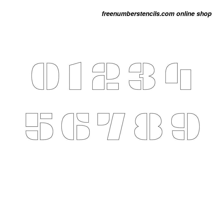 4 Inch Display Exquisite Decorative Number Stencils 0 To 9 - Free Printable 4 Inch Number Stencils