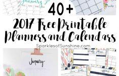 Free Cute Printable Planner 2017