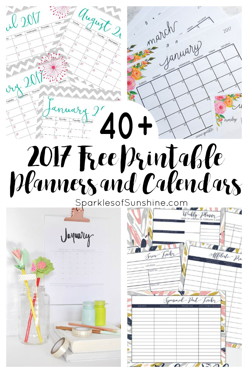 40+ Awesome Free Printable 2017 Calendars And Planners - Sparkles Of - Free Printable Weekly Planner 2017