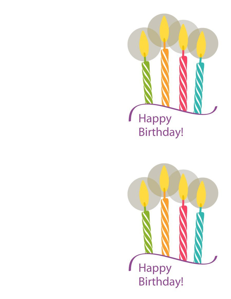40+ Free Birthday Card Templates - Template Lab - Happy Birthday Free Cards Printable