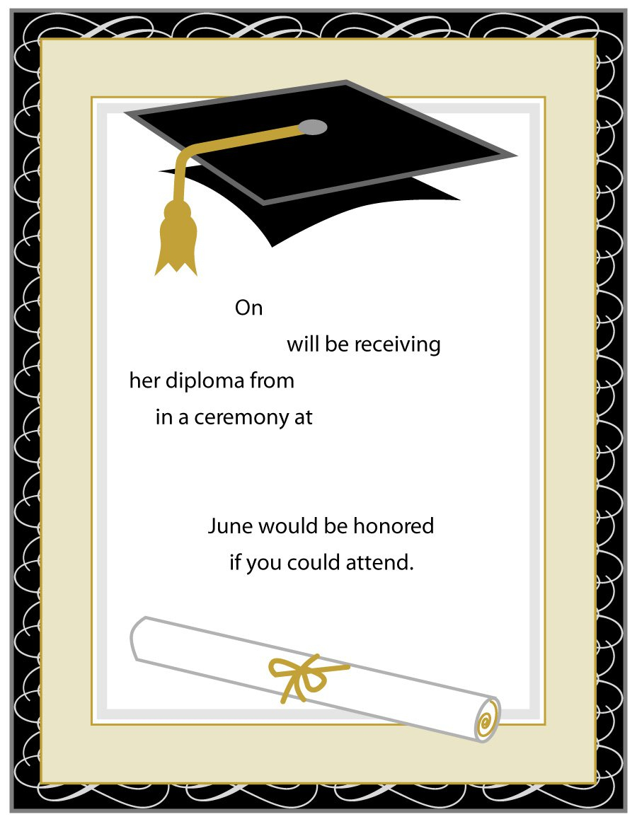 40+ Free Graduation Invitation Templates - Template Lab - Free Printable Graduation Dinner Invitations