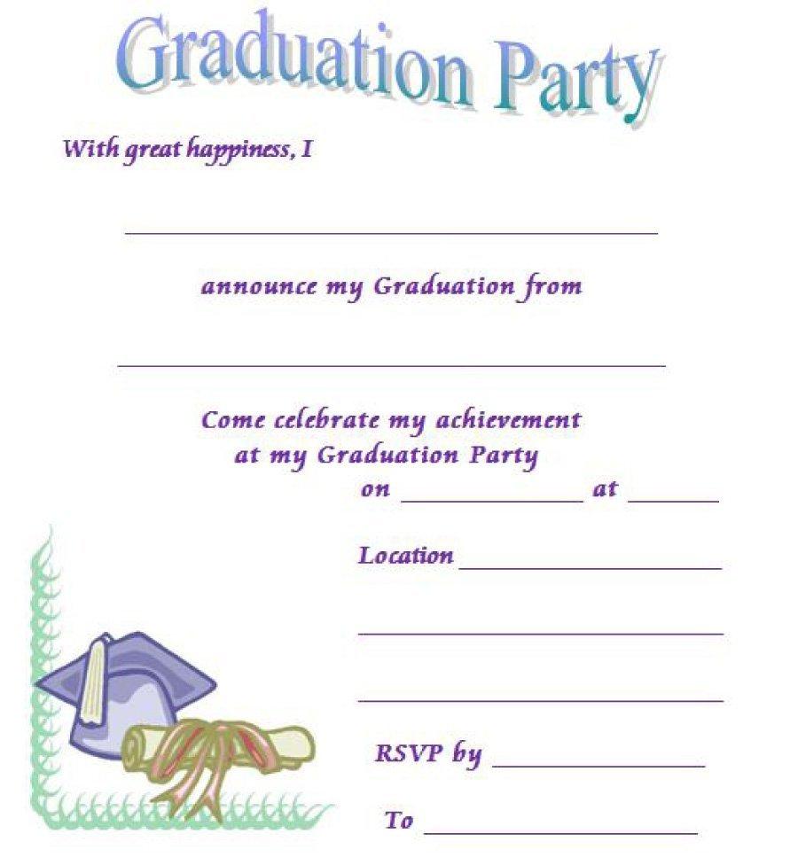 40+ Free Graduation Invitation Templates - Template Lab - Free Printable Invitations