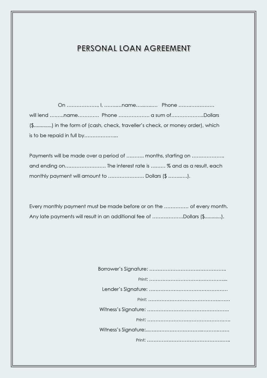 40+ Free Loan Agreement Templates [Word & Pdf] ᐅ Template Lab - Free Printable Basic Will