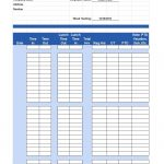 40 Free Timesheet / Time Card Templates   Template Lab   Free Printable Time Cards