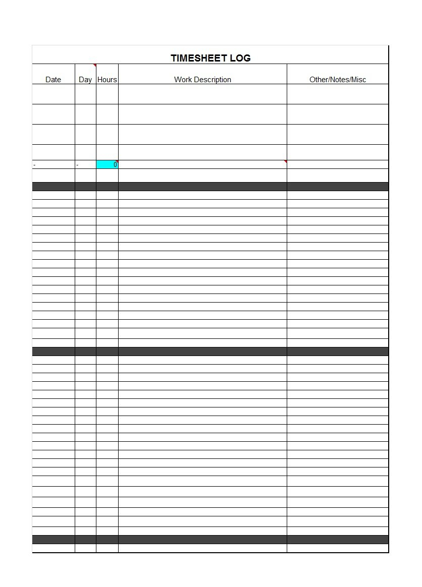 40 Free Timesheet / Time Card Templates - Template Lab - Free Printable Time Cards