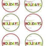 40 Sets Of Free Printable Christmas Gift Tags   Free Printable Goodie Bag Tags