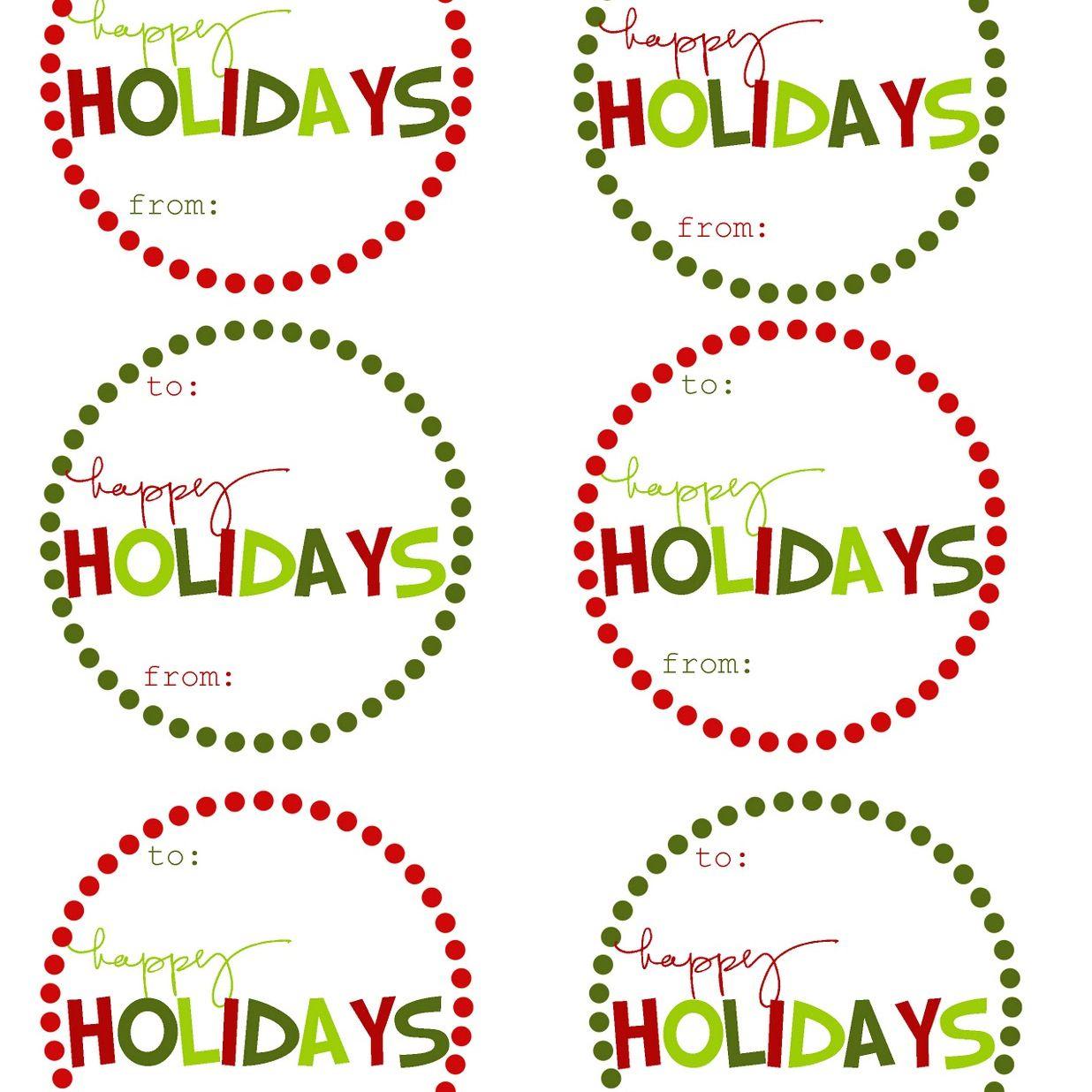 40 Sets Of Free Printable Christmas Gift Tags - Free Printable Holiday Stickers