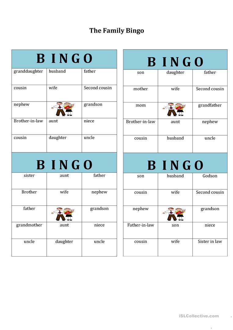 406 Free Esl Bingo Worksheets - Free Printable Parts Of Speech Bingo