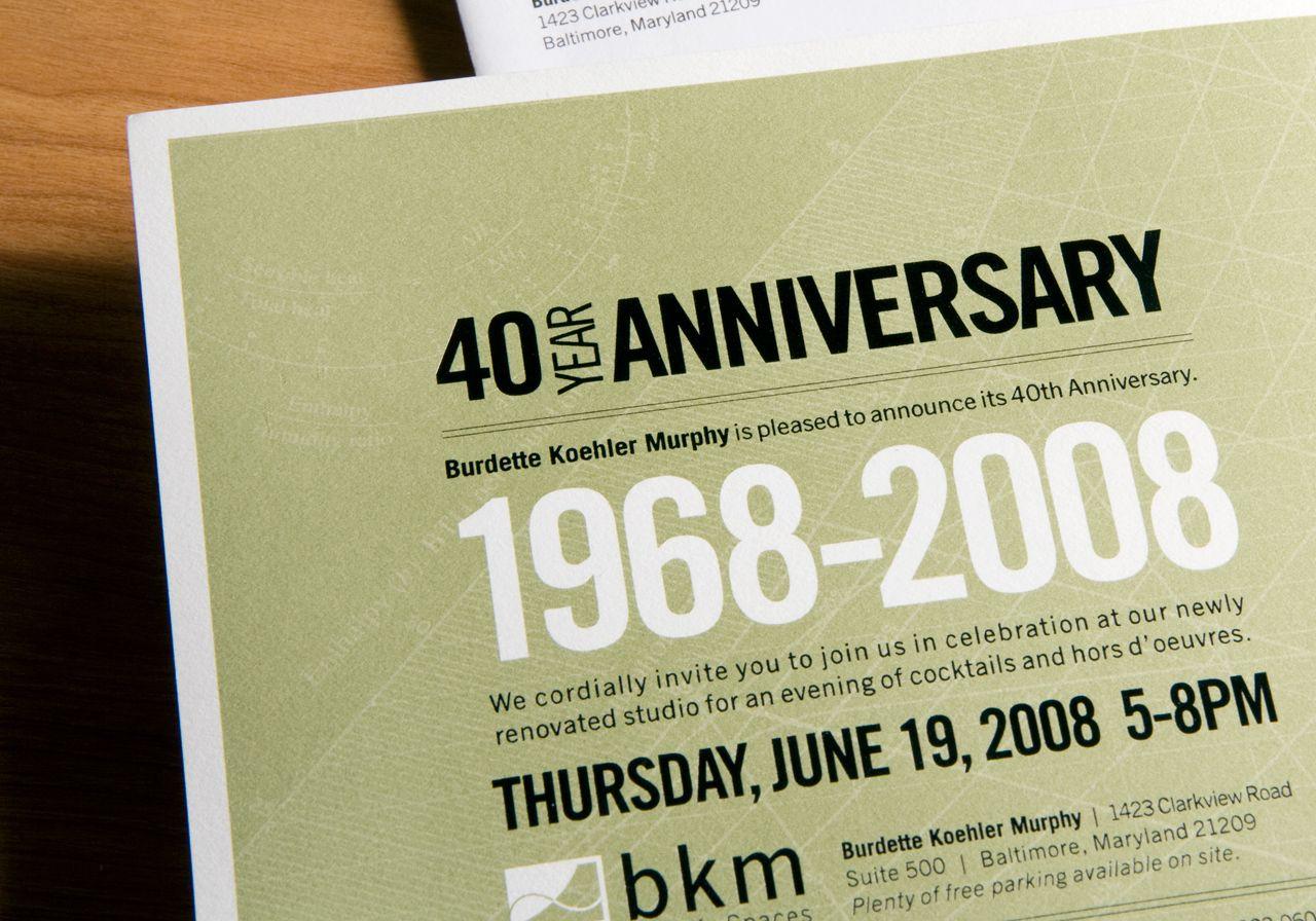 40Th Anniversary Corporate Invitation … | Idea | Pinterest - Free Printable 40Th Anniversary Invitations